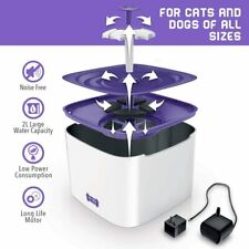 Ruff 'n Ruffus Cat Drinking Water Fountain with Free Filter & Free Silicone Mat