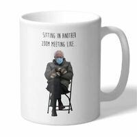Bernie Sanders Mittens Sitting Zoom Meeting Meme Novelty Coffee Mug