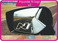 Hyundai i30 N logo  autocollant stickers X 2 - couleur au choix
