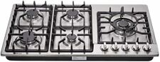 Deli-kit 34'' gas cooktop dual fuel sealed 5 burners gas hob stainless steel