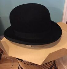STETSON JACOB REED'S SONS SIGNED 1930s-50's ANTIQUE DERBY HAT NEVER WORN
