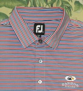 FOOTJOY Striped Short Sleeve Polo Golf Shirt Bandon Dunes XXL