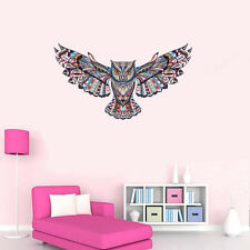 Removable Floral Owl Wall Decals Kids Bedroom Nursery Stickers Art Room Decor