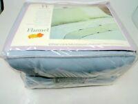 NEW Wamsutta Flannel Duvet Cover King 100% Cotton Powder Blue Preshrunk