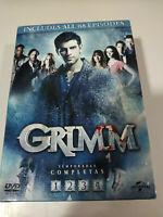 Grimm Temporadas 1-4 Completas - DVD 88 capitulos 3 hs extras Español English 3T