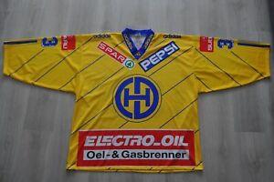 Signed Vintage 1990s Match Worn HC Davos Switzerland Wieser Adidas Jersey Hockey