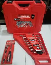 Craftsman 105-Piece Standard (Sae) and Metric Polished Chrome Mechanics Tool Set