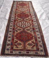 RUNNER ANTIQUE SARABB HAND-KNOTTED CAMEL HAIR WOOL ORIENTAL RUG 3 x11