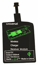 Qi Wireless Charger cargador receiver destinatarios Samsung Galaxy micro USB