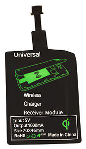 Qi Wireless Charger Ladegerät Receiver Empfänger Samsung Galaxy Micro USB