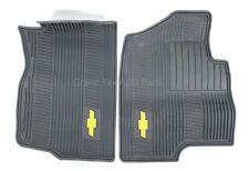 NEW OEM GM Front Rubber Floor Mats Titanium 19166591 Chevy Tahoe Suburban 07-14