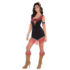 Ladies Womens Indian Adult Fancy Dress Costume Pocahontas Native American 14-16