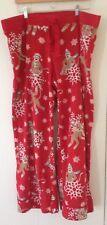 Nick & Nora Sock Monkey Snowflake Flannel Pajama Bottom XXL 2XL Lounge Red