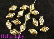 80pcs Antiqued gold plt lined bottle spacer bead A338
