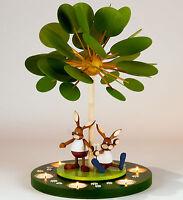 Teelicht-Pyramide Jahreszeitenbaum unbest. Erzgebirge Osterpyramide Osterhasen