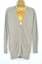 TOPSHOP Brown fine knit boyfriend cardigan 10