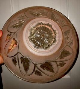 Vintage Pink Frosted Glass Light Cover / Globe Single Hole ~ Ivy Design