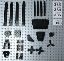 LEGO Black Plane /Boat/Space Wedges - Inverted 45º Bases, Propellers Etc #W333-6