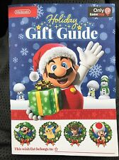 Nintendo 2016 Holiday Gift Guide Booklets Promo Wii U 3DS Activity GameStop Book