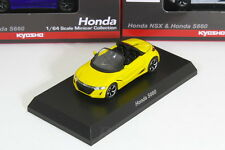 Kyosho 1/64 HONDA S660 Yellow JW5 ACURA NSX&S660 Minicar Collection 2017
