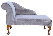 """Classic Style 41"""" Mini Chaise Longue in a Jumbo Cord Mink Fabric - Brand New"""