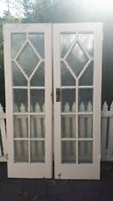 Pair Of Oregon Rebated 11 Panel Deco French Doors, 1 of 2 sets.