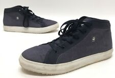 G Star Original Raw Denim Mens Blue Mid Top Casual Shoes Size 9
