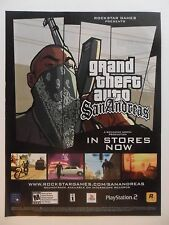 2005 Print Ad Grand Theft Auto San Andreas Video Game ~ Gangster Mask