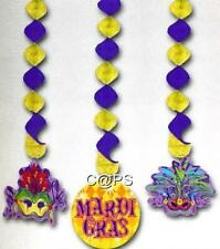 Pack of 3 Mardi Gras Danglers...Masquerade Party...Ceiling Decoration..Gay Pride