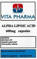 ALPHA LIPOIC ACID 600mg 365 caps powerful antioxidant, glucose metabolism