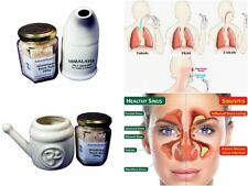 APO020 Himalayan Salt & Ceramic Neti Pot/Salt Inhaler Kit + Full Instructions