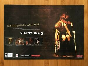 Silent Hill 3 PS2 Playstation 2 2003 Vintage Print Ad/Poster Official Horror Art