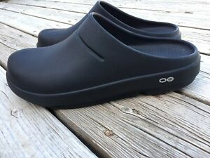 Oofos Black OOtevhnology Unisex Clogs Slip On Shoe Size 12 Women's  10 Men's