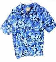 Panama Jack Medium Mens Floral Short Sleeve 100% Rayon Hawaiian Camp Shirt