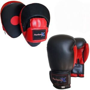 Focus pads and Boxing Gloves set Hook & Jab Punching kick Boxing Mitt MMA Fight