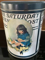 "Norman Rockwell May 17, 1932 Saturday Evening Post ""Baby Chicks"" Tin Canister"