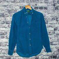 GITMAN BROS. Vintage fit Men's Button Front Shirt Blue Corduroy Size XS USA Made