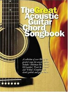 The Great Acoustic Guitar Chord Songbook Paperback Book The Cheap Fast Free Post