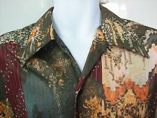 1970s vintage glam disco JC Penney shirt Medieval fantasy print perfect shape