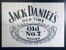 Jack Daniels A5/A4 Stencil No7 Whiskey Logo Airbrush Pub Sign Wall Art Reusable