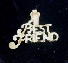 """Best Friend"" 14K YELLOW GOLD Chain Pendant, Charm: .7 Gram - Gift, Present"