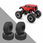 4Pieces 1:10 RC Trunk Hub Wheel Rim &Tires for JEEP D90 RGT MSTCar Replaces