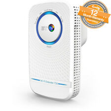 BT 11AC Dual-Band Home Wi-Fi Network Wireless Range Extender 750 bps in White