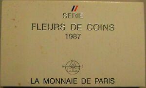Coffret FDC 1987 - Monnaie de Paris - Fleurs de Coins - Boxed in original case
