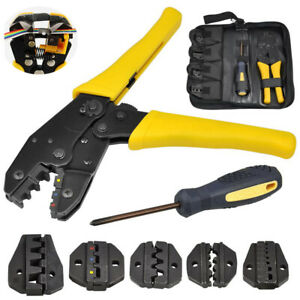 Adjustable Automatic Crimping Plier & Wire Stripper Cable Connector Wire Cutter