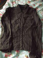 Damen Bluse braun/weiß gestreift VeroModa Gr. L