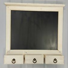 Shabby Chic Style Beige Wall Unit Shelf Chalk Memo Blackboard Message