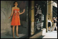 Lily Cole 2-page clipping 2008 ad for Saks Fifth Avenue