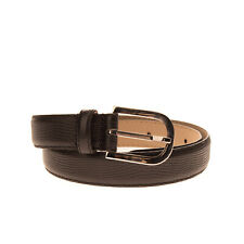 RRP €140 ARMANI COLLEZIONI Leather Belt Size 42/M 80/32 Embossed Reptile Pattern