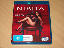 Nikita Season 1 The Complete First Series Maggie Q (Blu Ray 2011) Like New